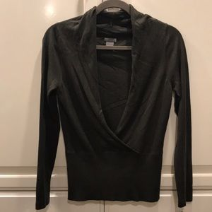 ANN Taylor - Silk Cashmere Shawl Sweater